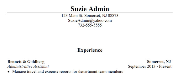 Administrative Office Professional Resume Sample 3